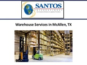 Warehouse Distribution McAllen
